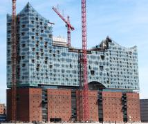 Elbe Philharmonic Hall under construction Stock Photos