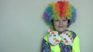 Stock Video Footage of Little clown smiling