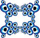 Blue amulet line vector art Stock Illustration
