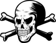 Skull and Crossbones - stock illustration