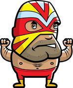 Masked Luchador - stock illustration