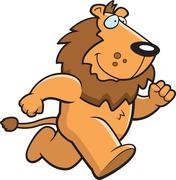 Lion Running - stock illustration