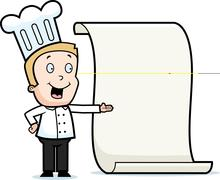 Chef Menu Stock Illustration