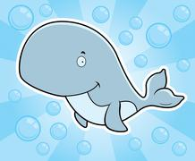 Whale Underwater - stock illustration