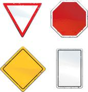 Traffic Signs - stock illustration