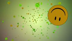 Smiley face explosion background fun - Full HD Stock Footage
