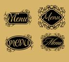 Vintage retro menu line vector art Stock Illustration