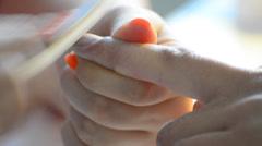 Manicure, studio beauty, nails manicure, close up shot Stock Footage