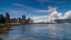 Time Lapse of Cloudy afternoon in Vancouver downtown Stock Footage