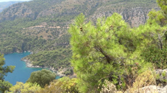 Mediterranean sea landscape view of coast and mountains Stock Footage