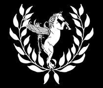 Black and white horse vector art Stock Illustration