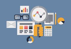 Web analytics illustration Stock Illustration