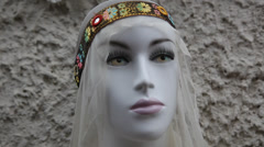 Beautiful Muslim Arab fashion model Stock Footage
