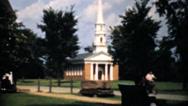 People Entering A Beautiful Little Chapel-1940 Vintage 8mm film Stock Footage