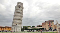 A very leaning tower of Pisa. - stock footage