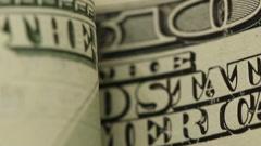 Macro Dollars - stock footage