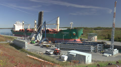 St Lawrence Seaway Frieghter Stock Footage