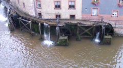 Old water mill still works. Stock Footage