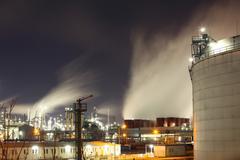 öljy-ja kaasuteollisuuden - petrokemian tehtaan Kuvituskuvat