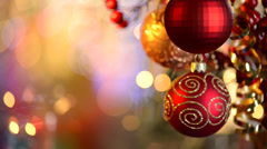 Christmas and New Year Decorations - stock footage