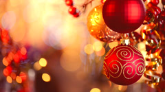 Christmas and New Year Decorations Stock Footage