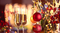 New Year and Christmas Celebration - stock footage