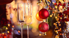 New Year and Christmas Celebration Stock Footage