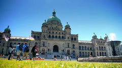 HD Victoria BC Legislature, Victoria City Canada - stock footage