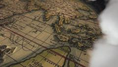 South Fly By of Ancient Map Ortelius - stock footage