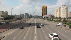 Highway through Astana, Kazakhstan Stock Footage
