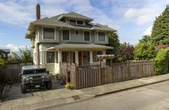 Panorama of a house and vehicle in seattle wa. Stock Photos
