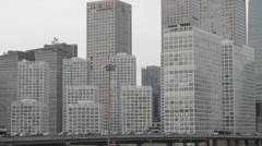 Beijing Central Business District (CBD). Stock Footage