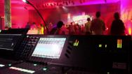 Digital sound desk at a live event Stock Footage