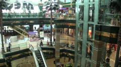 Luxurious shopping mall in Astana, Kazakhstan Stock Footage