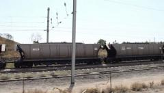 Moving Coal Train Stock Footage