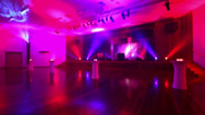 Pink lighting for a live event Stock Footage