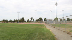 Baseball Outfield Pan Left Stock Footage