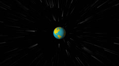 Planet Earth Spinning in Outer Space with Other Celestial Bodies Stock Footage