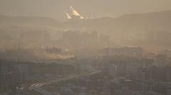 Beijing city in pollution. Stock Footage