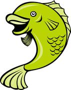 cartoonfish - stock illustration