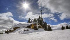 Chalet in austrian alps Stock Photos