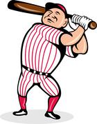 Baseball-pelaaja svengaava lepakko Piirros