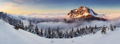 winter mountain landscape - slovakia - stock photo