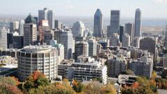 Montreal Downtown Cityscape Pan Quebec Province Canada Stock Footage