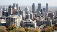 Stock Video Footage of Montreal Cityscape Pan
