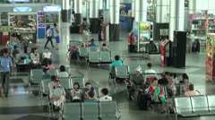 Waiting hall in train station Almaty Stock Footage