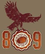 American football college vector art Stock Illustration