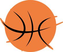 College basketball sports vector art Stock Illustration