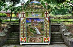Jenkin Chapel well dressing, Derbyshire Stock Photos