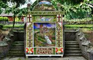 Stock Photo of Jenkin Chapel well dressing, Derbyshire